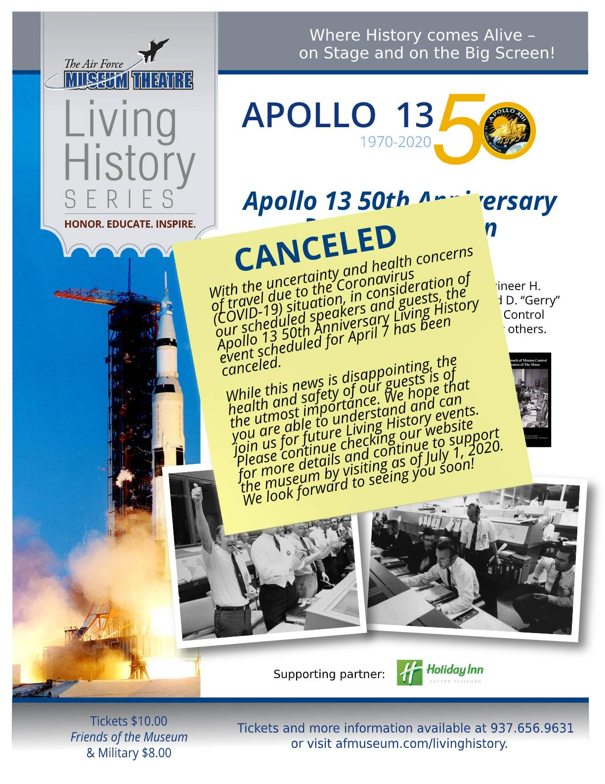 Apollo 13 panel flier canceled final update